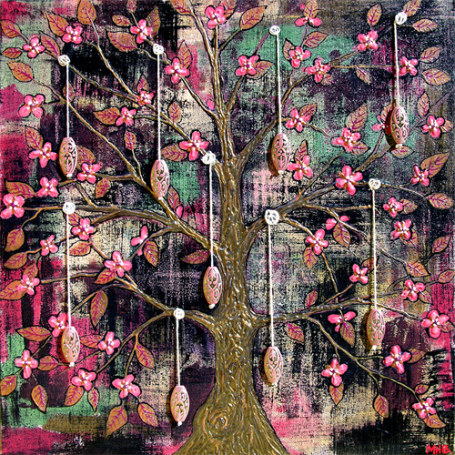 tree painting blanchett folk art
