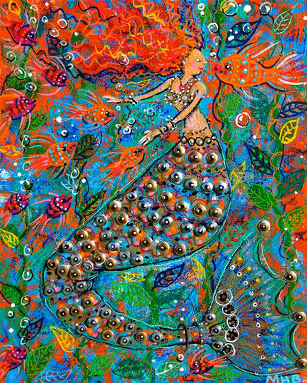 Margaret Blanchett Folk Art mermaid