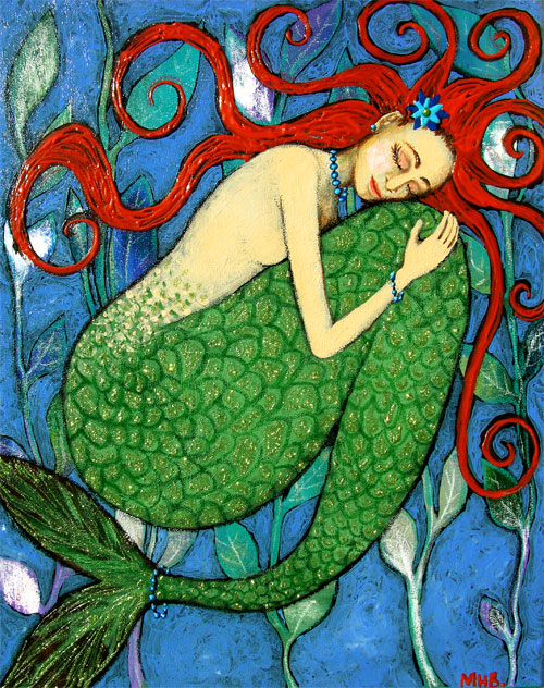 blanchett mermaid folk art